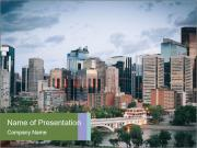 Calgary skyline PowerPoint Templates