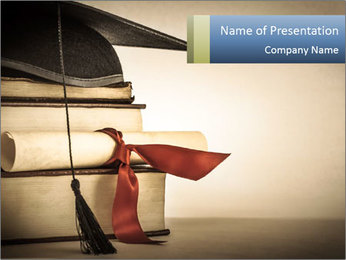 A mortarboard PowerPoint Templates - Slide 1
