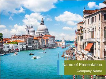 Canal Grande PowerPoint Template - Slide 1