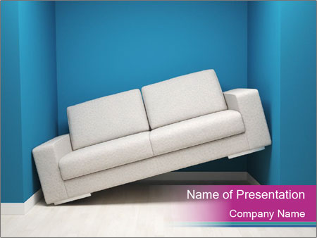 Leather sofa PowerPoint Templates
