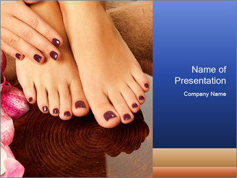 Female feet PowerPoint Templates - Slide 1