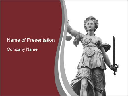 Justice statue PowerPoint Templates