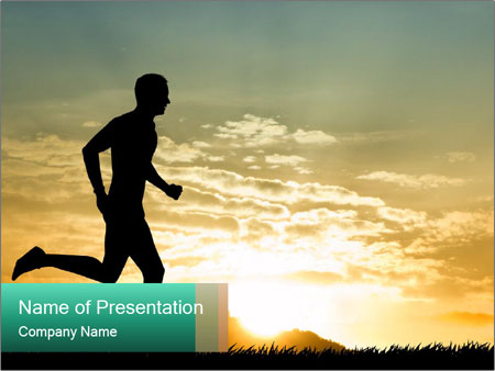 Running man PowerPoint Templates