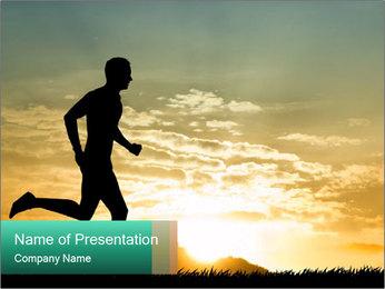 Running man PowerPoint Templates - Slide 1
