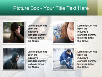 Sad lonely girl PowerPoint Template - Slide 14