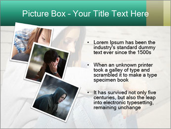 Sad lonely girl PowerPoint Template - Slide 17