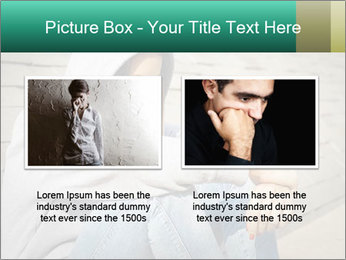 Sad lonely girl PowerPoint Template - Slide 18