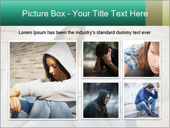 Sad lonely girl PowerPoint Template - Slide 19