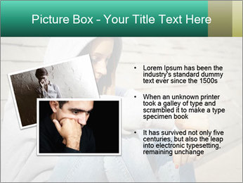 Sad lonely girl PowerPoint Template - Slide 20