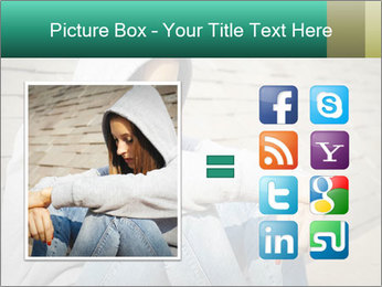 Sad lonely girl PowerPoint Template - Slide 21