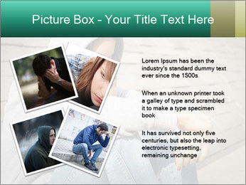 Sad lonely girl PowerPoint Template - Slide 23