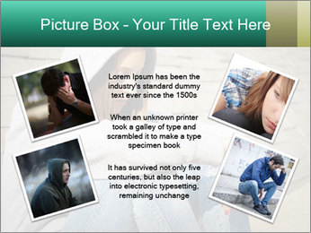 Sad lonely girl PowerPoint Template - Slide 24