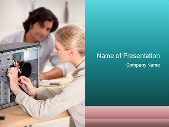 Technician repairing PowerPoint Templates - Slide 1