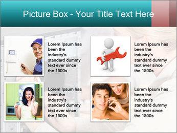 Technician repairing PowerPoint Templates - Slide 14