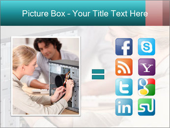 Technician repairing PowerPoint Templates - Slide 21