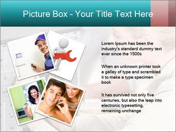Technician repairing PowerPoint Templates - Slide 23