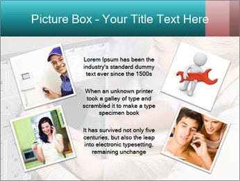 Technician repairing PowerPoint Templates - Slide 24
