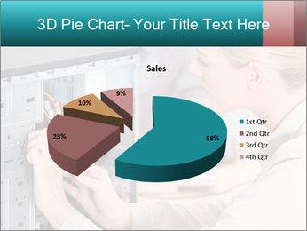 Technician repairing PowerPoint Templates - Slide 35