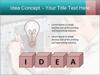 Technician repairing PowerPoint Templates - Slide 80