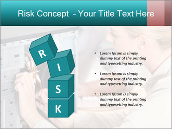 Technician repairing PowerPoint Templates - Slide 81