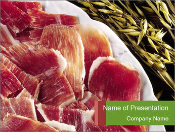 Spanish pata negra ham PowerPoint Templates - Slide 1