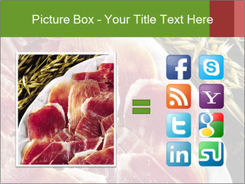Spanish pata negra ham PowerPoint Templates - Slide 21
