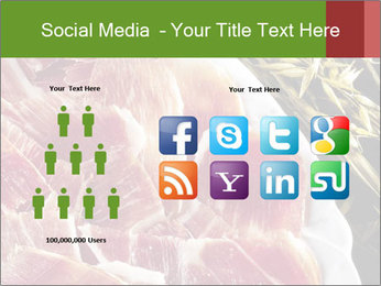 Spanish pata negra ham PowerPoint Templates - Slide 5
