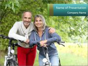 Cheerful senior couple PowerPoint Templates