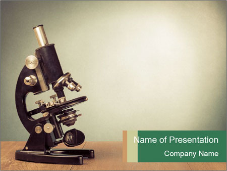 Vintage microscope PowerPoint Template