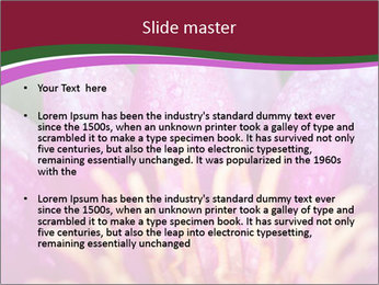 Pink water lily PowerPoint Templates - Slide 2