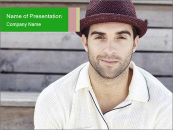 Mid adult man PowerPoint Template - Slide 1