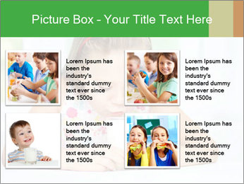 Cute little girl PowerPoint Templates - Slide 14