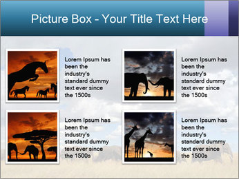 Elephants marching PowerPoint Templates - Slide 14