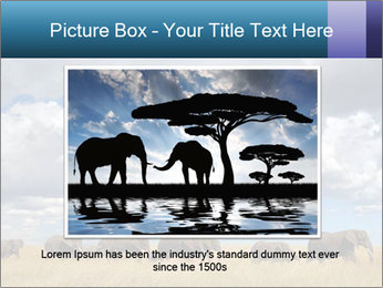 Elephants marching PowerPoint Templates - Slide 16
