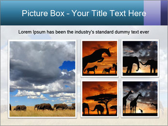 Elephants marching PowerPoint Templates - Slide 19