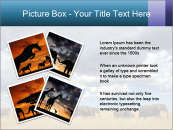 Elephants marching PowerPoint Templates - Slide 23