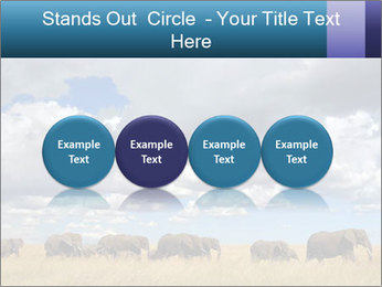 Elephants marching PowerPoint Templates - Slide 76
