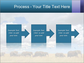 Elephants marching PowerPoint Templates - Slide 88