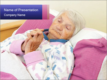 Elderly woman PowerPoint Template - Slide 1