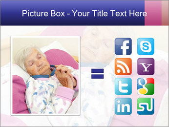 Elderly woman PowerPoint Template - Slide 21