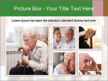 Sad old man sitting PowerPoint Templates - Slide 19