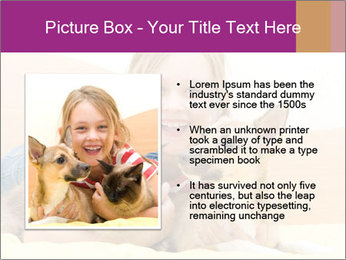 Laughing girl PowerPoint Template - Slide 13