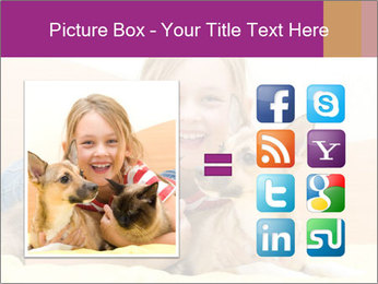 Laughing girl PowerPoint Template - Slide 21