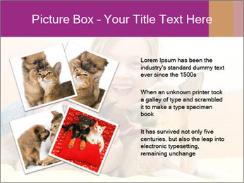 Laughing girl PowerPoint Template - Slide 23