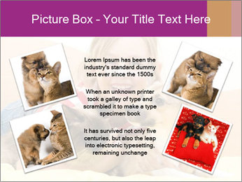 Laughing girl PowerPoint Template - Slide 24