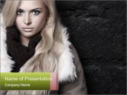 Beautiful blond woman PowerPoint Templates