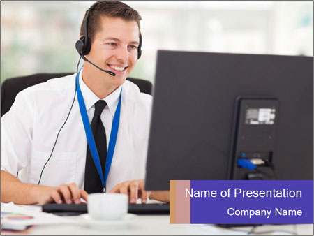 Handsome technical support PowerPoint Templates