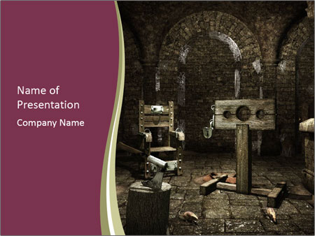 Medieval torture chamber PowerPoint Templates