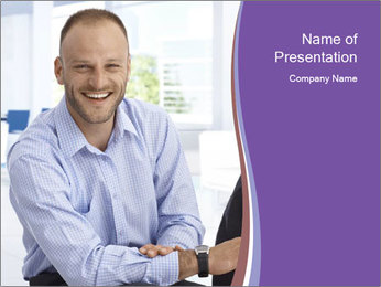 Happy mid-adult businessman PowerPoint Templates - Slide 1