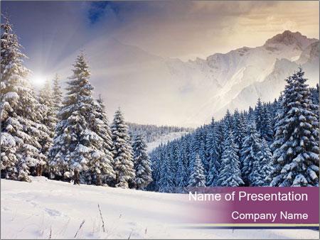 Fantastic evening winter PowerPoint Template